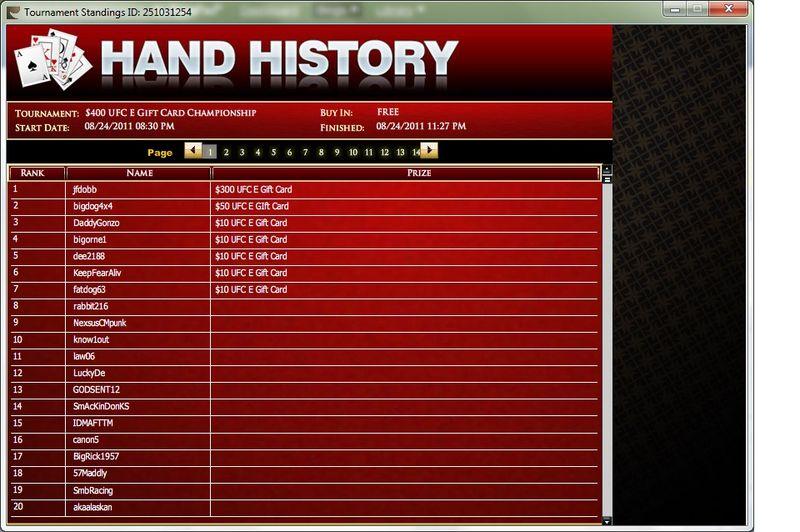 UFC Tournament 8-24-2011